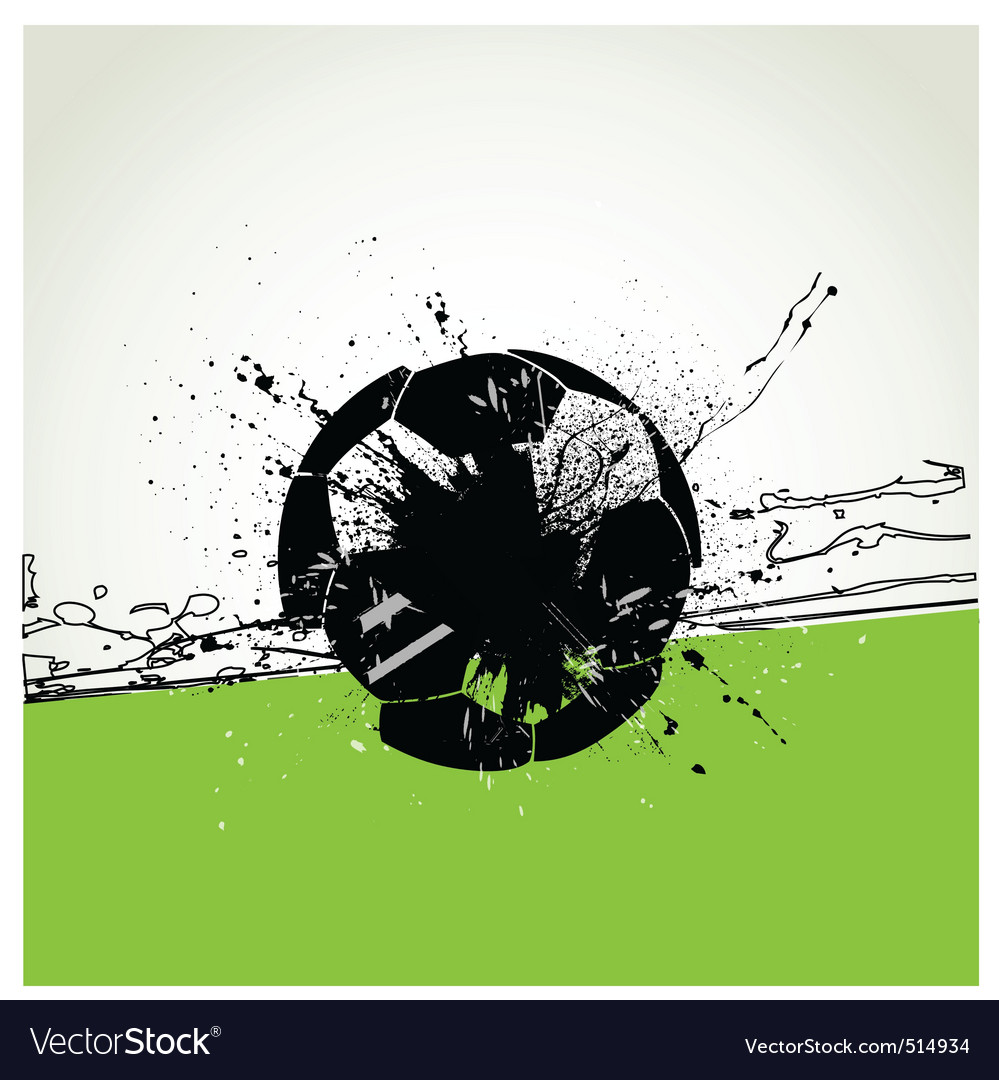 Grunge soccer ball vector | Price: 1 Credit (USD $1)