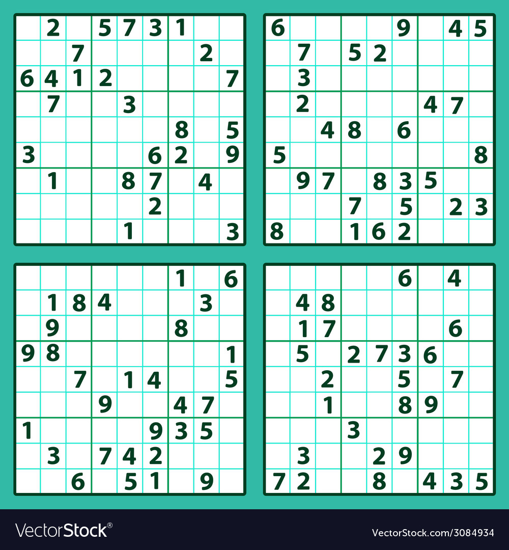 Sudoku vector | Price: 1 Credit (USD $1)