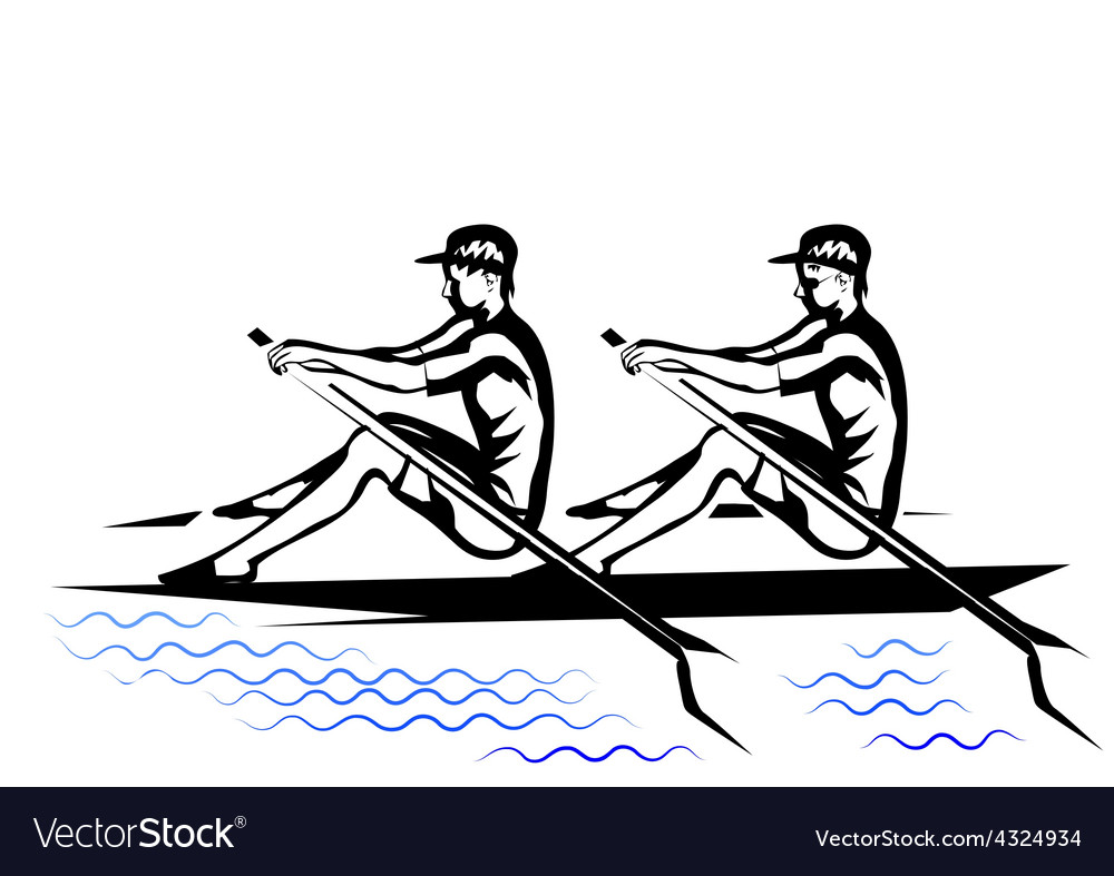 Team rowing vector | Price: 1 Credit (USD $1)