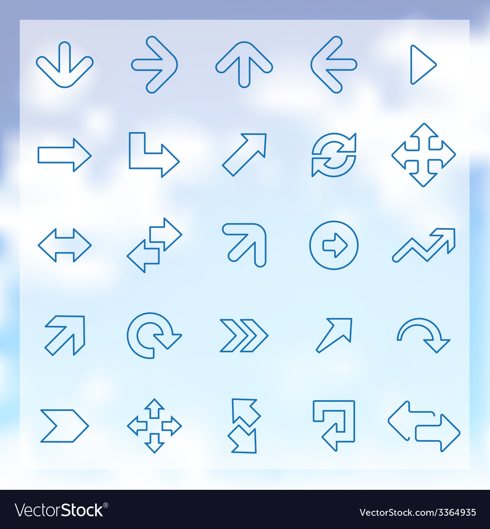 25 arrows icons set vector | Price: 1 Credit (USD $1)