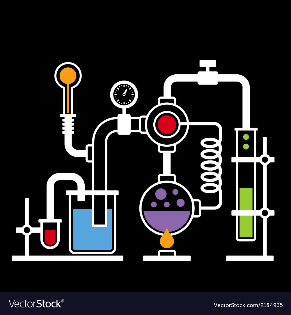 Chemistry laboratory infographic set 2 vector | Price: 1 Credit (USD $1)