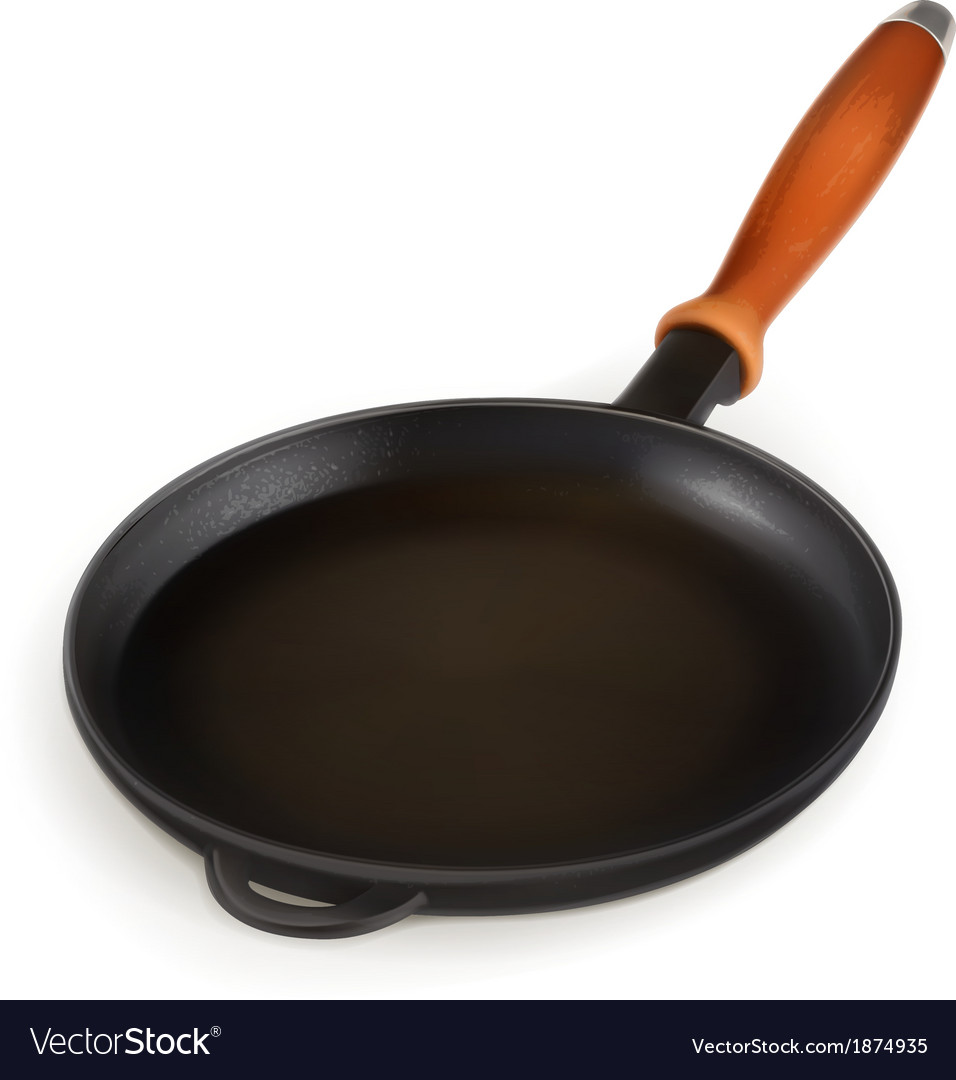 Frying pan photo realistic vector | Price: 1 Credit (USD $1)