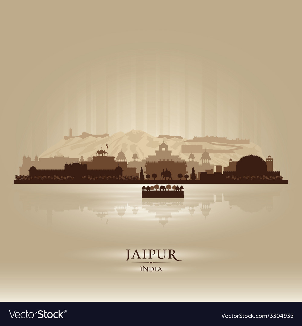Jaipur india city skyline silhouette vector | Price: 1 Credit (USD $1)