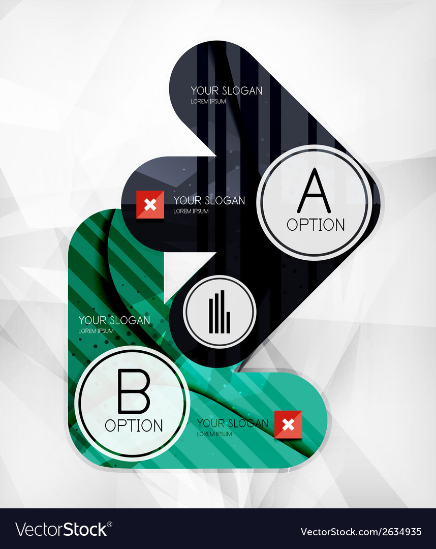 Modern infographic option layout vector | Price: 1 Credit (USD $1)