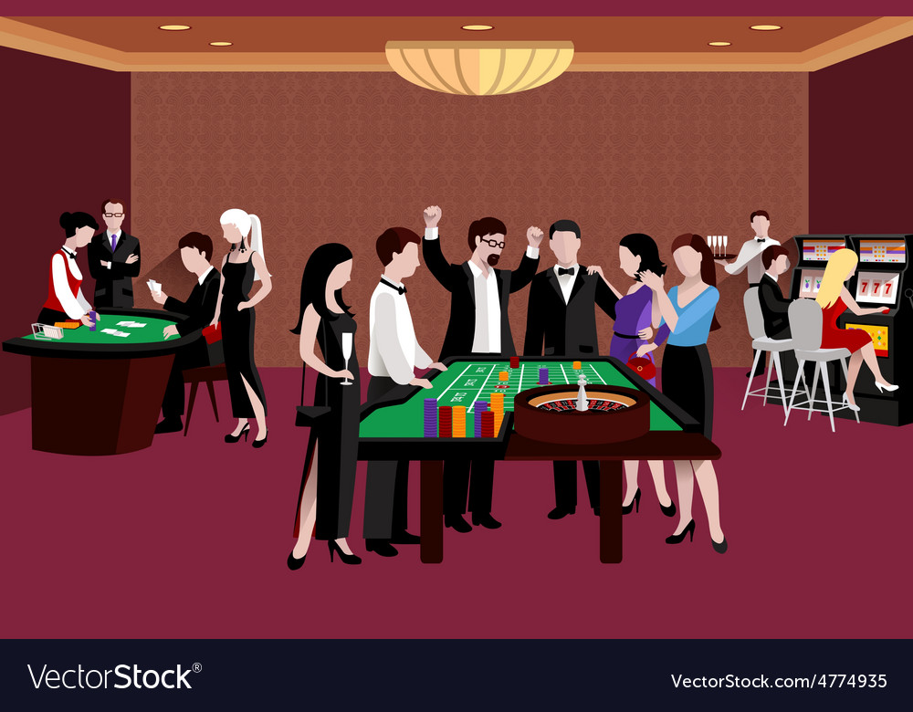 People in casino vector | Price: 3 Credit (USD $3)