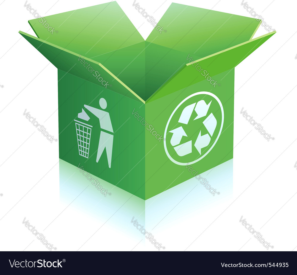 Recycled box vector | Price: 1 Credit (USD $1)