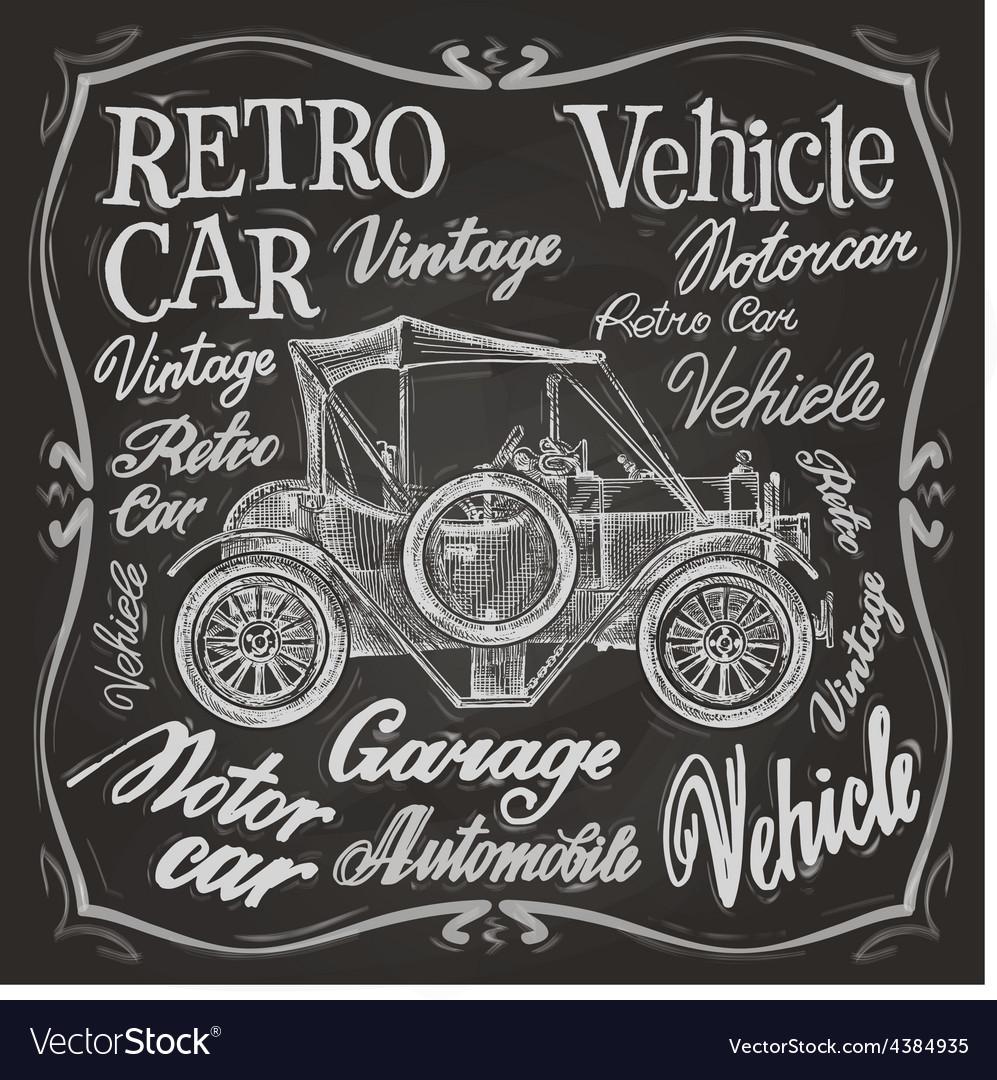Retro car logo design template vehicle vector | Price: 3 Credit (USD $3)