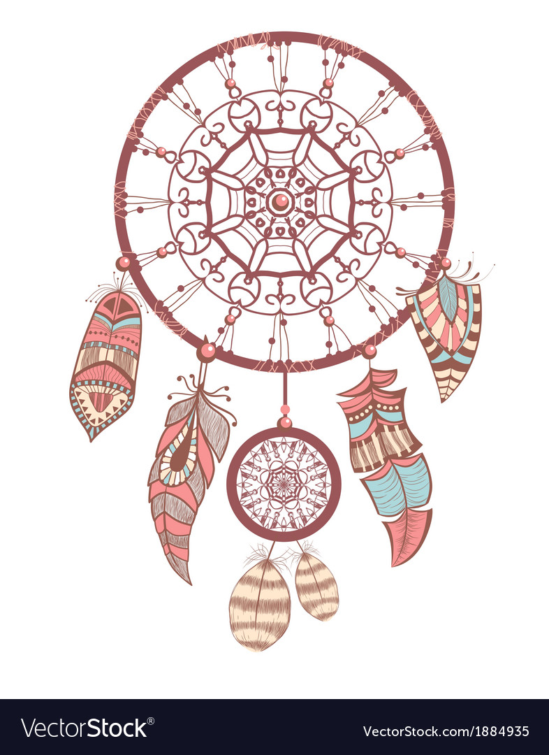 Romantic dream catcher vector | Price: 1 Credit (USD $1)