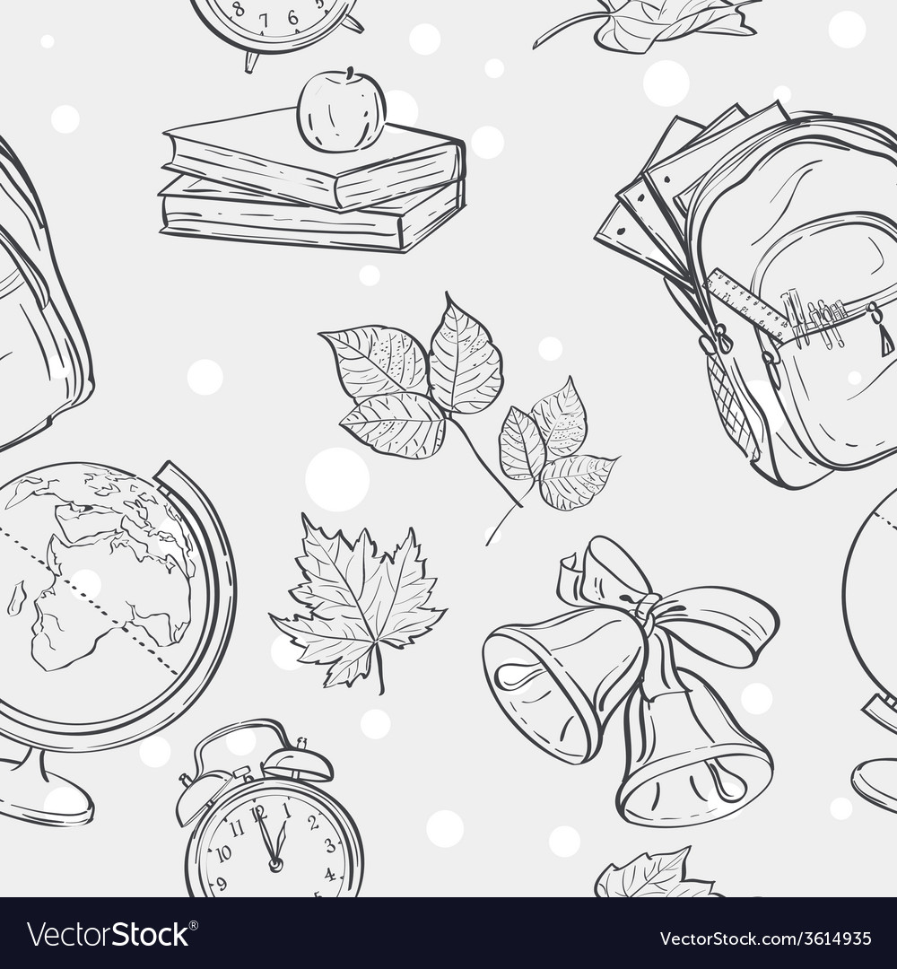 Seamless texture on a school theme with a backpack vector   Price: 1 Credit (USD $1)