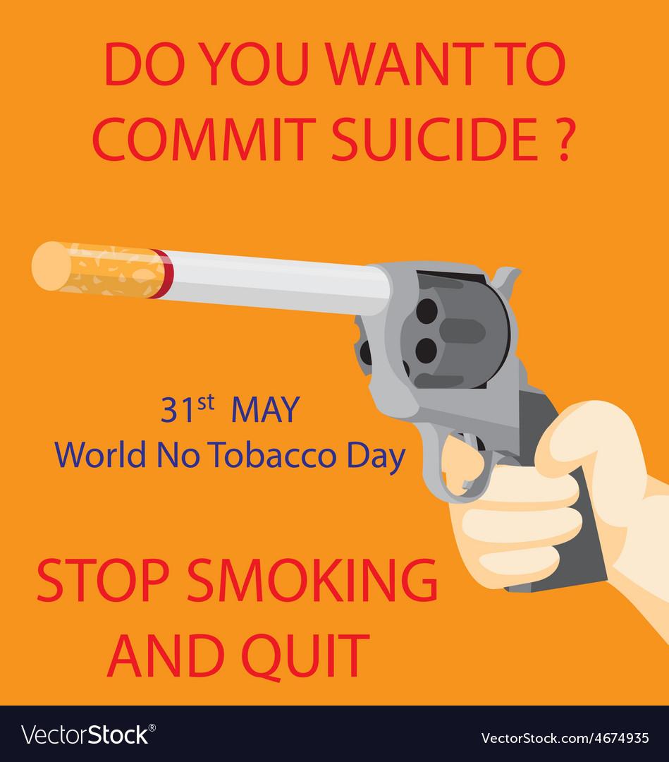 World no tobacco day vector | Price: 1 Credit (USD $1)