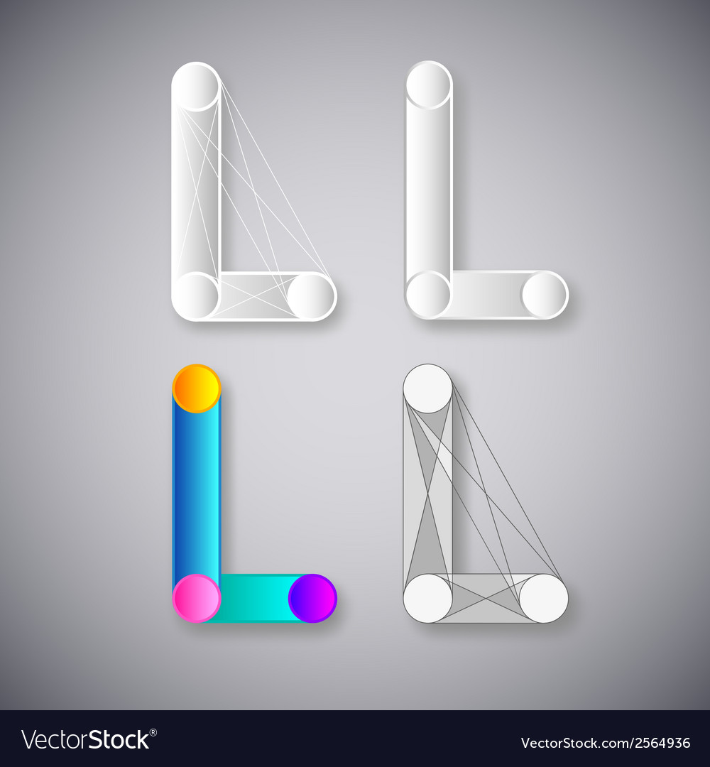 Abstract combination of letter l vector | Price: 1 Credit (USD $1)