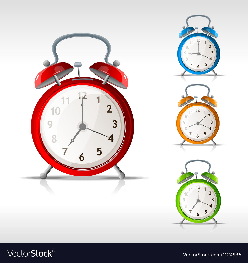 Alarm clocks vector | Price: 1 Credit (USD $1)
