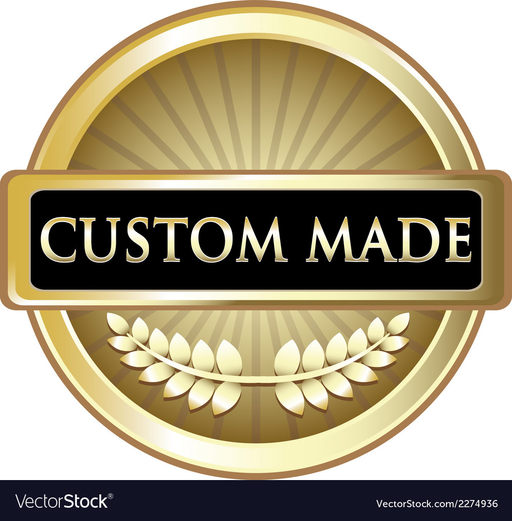 Custom made gold label vector | Price: 1 Credit (USD $1)