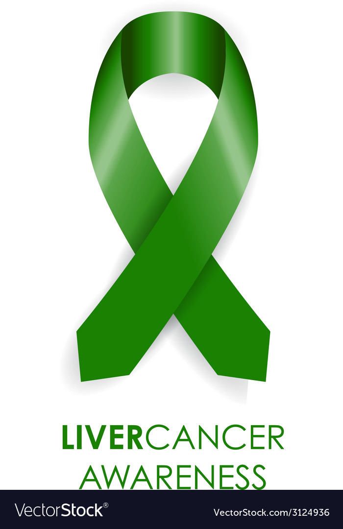 Liver awareness cancer ribbon vector | Price: 1 Credit (USD $1)