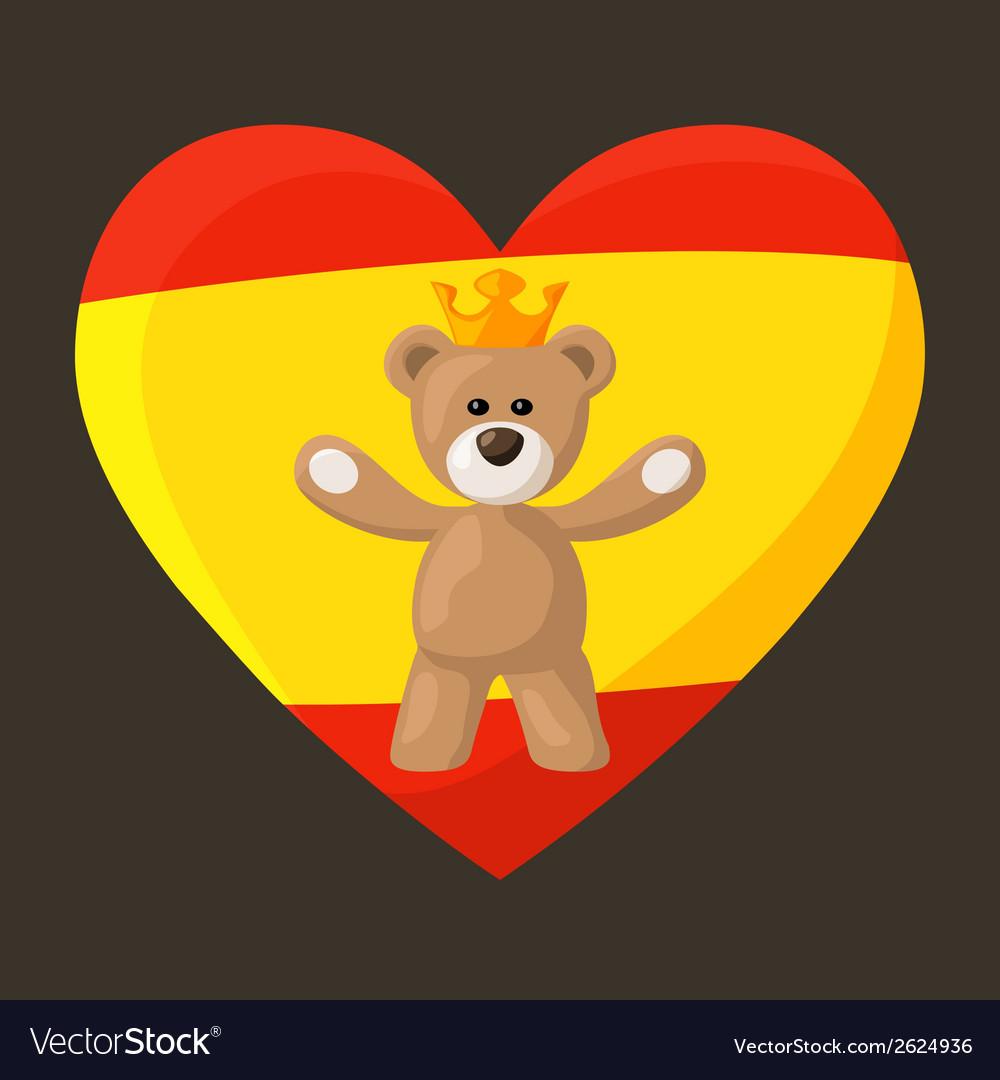 Mile 0017 spanish royal bear male vector | Price: 1 Credit (USD $1)