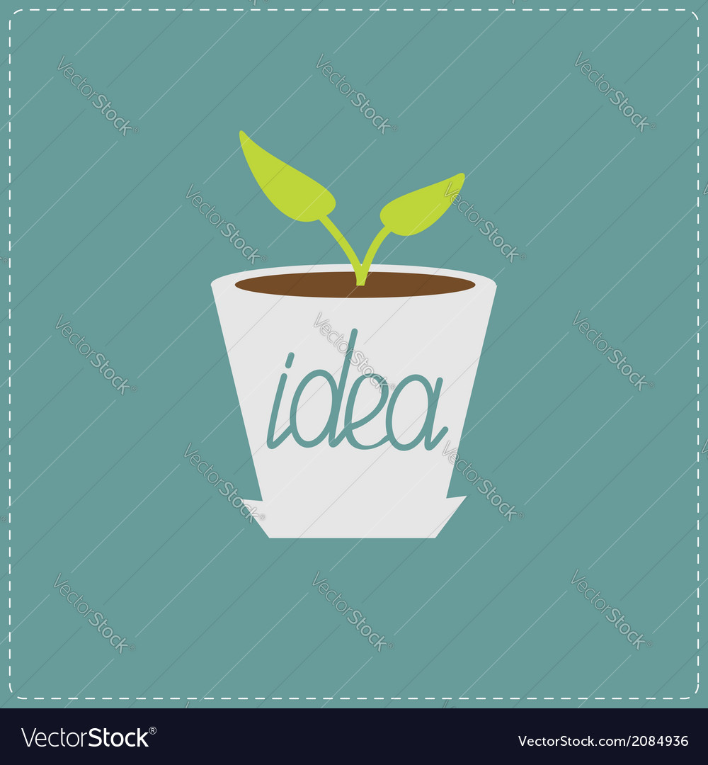 Plant in the pot growing idea concept vector | Price: 1 Credit (USD $1)