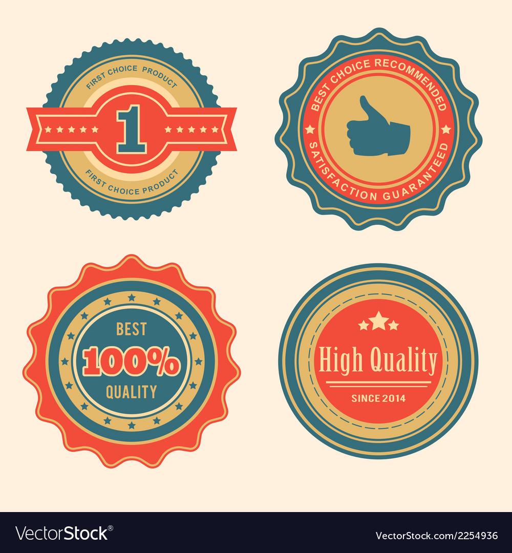 Sale retro badges vector | Price: 1 Credit (USD $1)