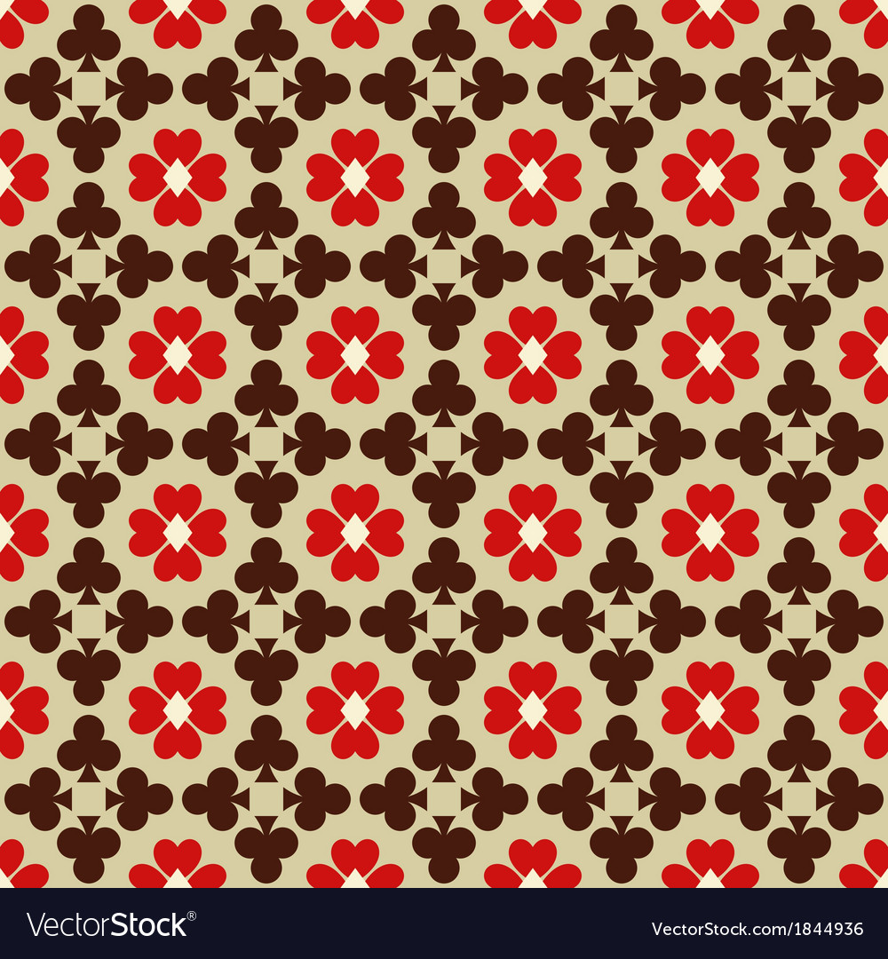 Seamless abstract pattern with card suits vector | Price: 1 Credit (USD $1)