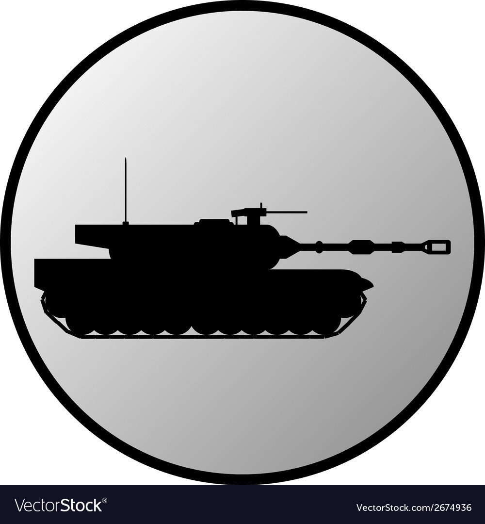 Tank button vector | Price: 1 Credit (USD $1)
