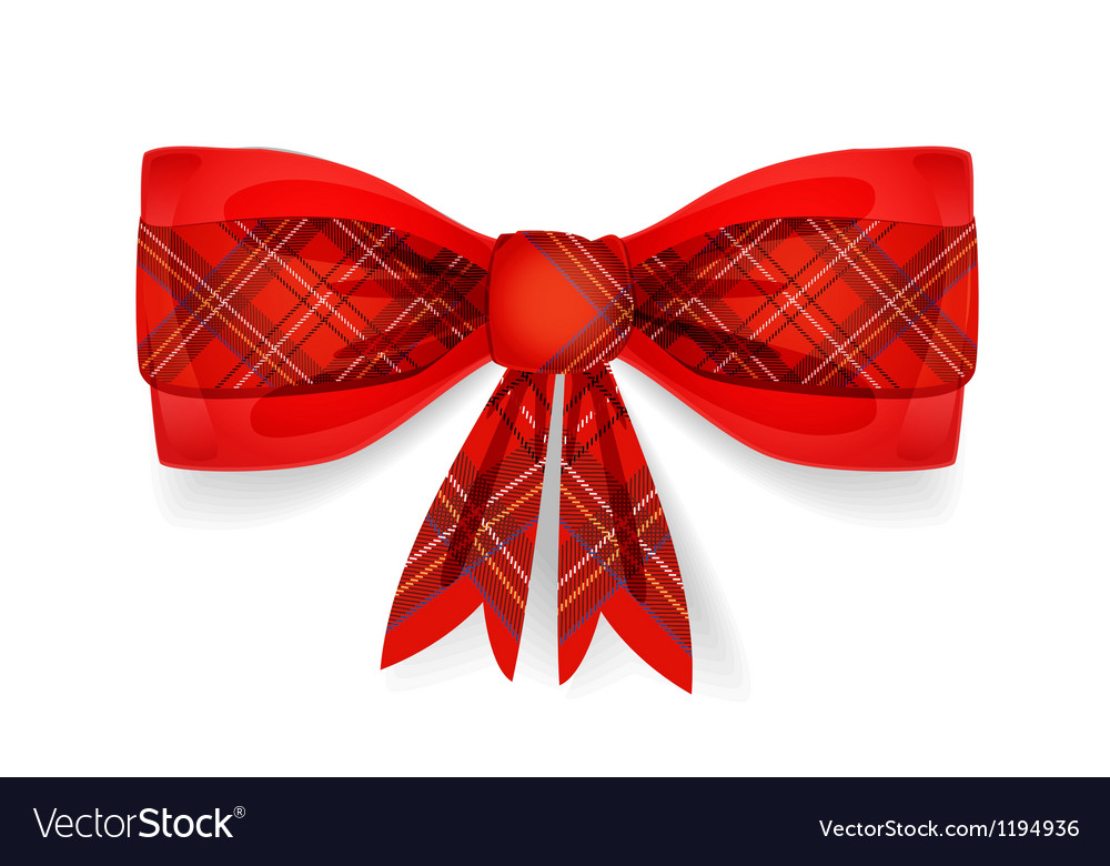Tartan pattern bow vector | Price: 1 Credit (USD $1)