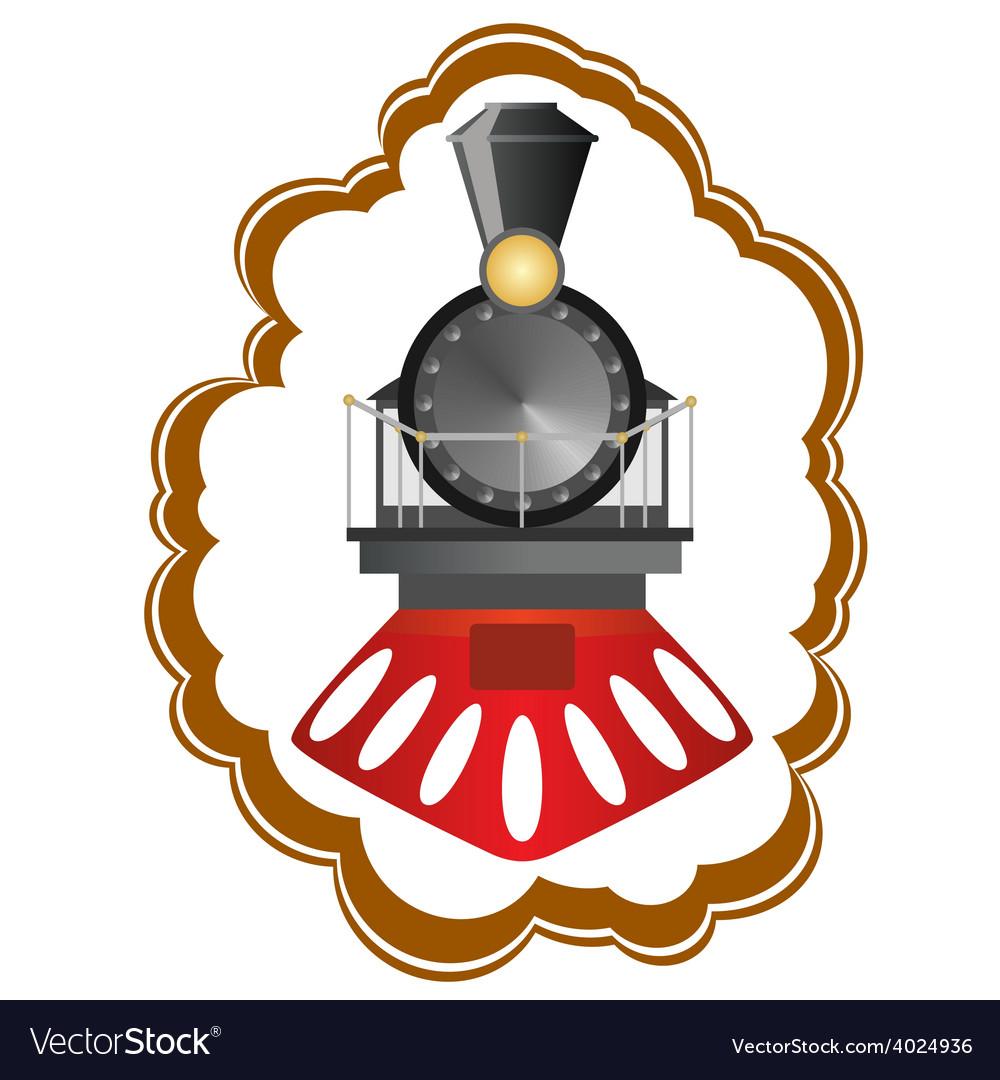 Vintage locomotive vector | Price: 1 Credit (USD $1)