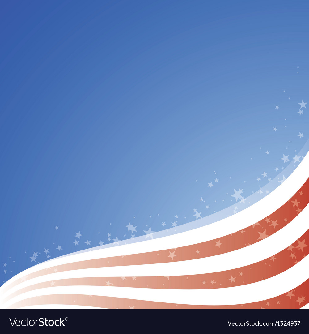 Background usa flag with light and stars vector | Price: 1 Credit (USD $1)