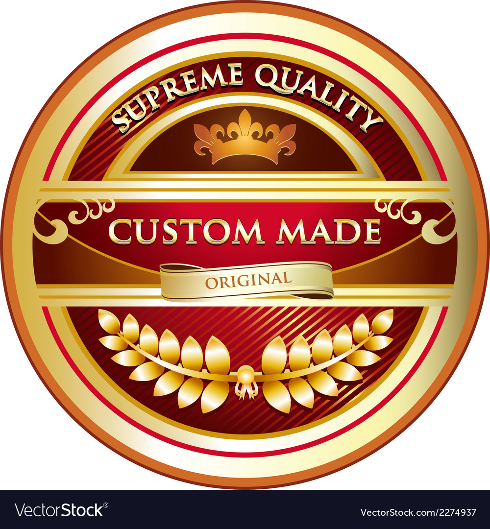 Custom made original label vector | Price: 1 Credit (USD $1)
