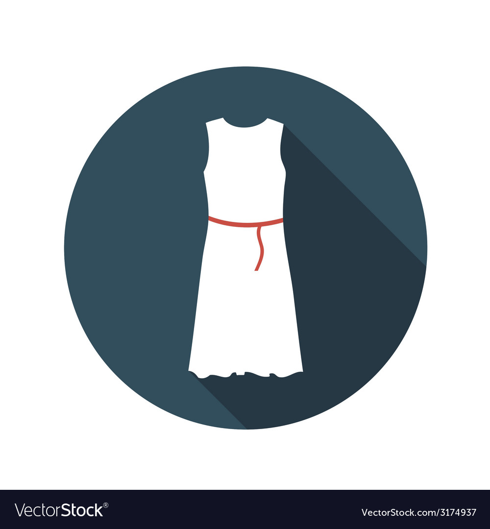 Flat design concept white dress with long sh vector | Price: 1 Credit (USD $1)