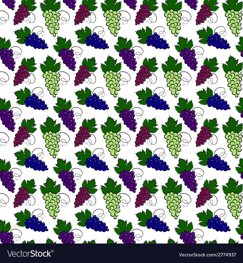 Grapes pattern vector | Price: 1 Credit (USD $1)