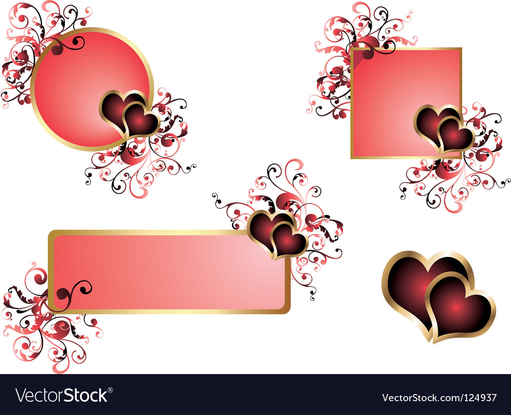 Love banner vector | Price: 1 Credit (USD $1)