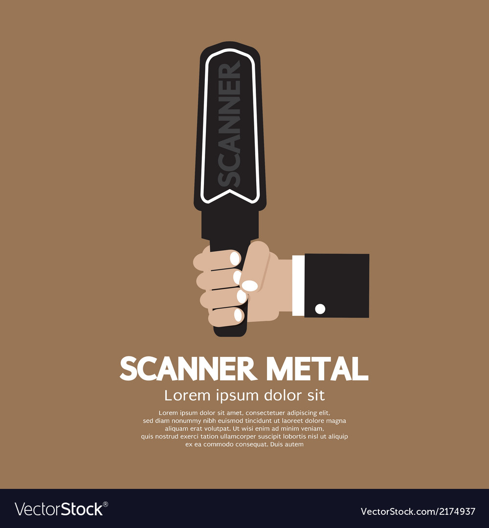 Metal scanner vector | Price: 1 Credit (USD $1)