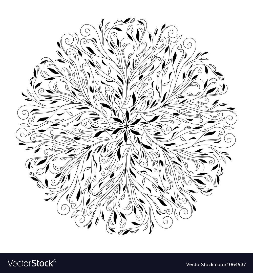 Monochrome black and white lace ornament vector   Price: 1 Credit (USD $1)