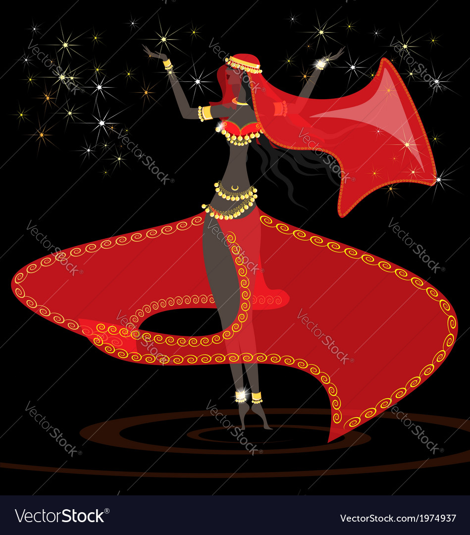 Oriental girl dancer vector | Price: 1 Credit (USD $1)