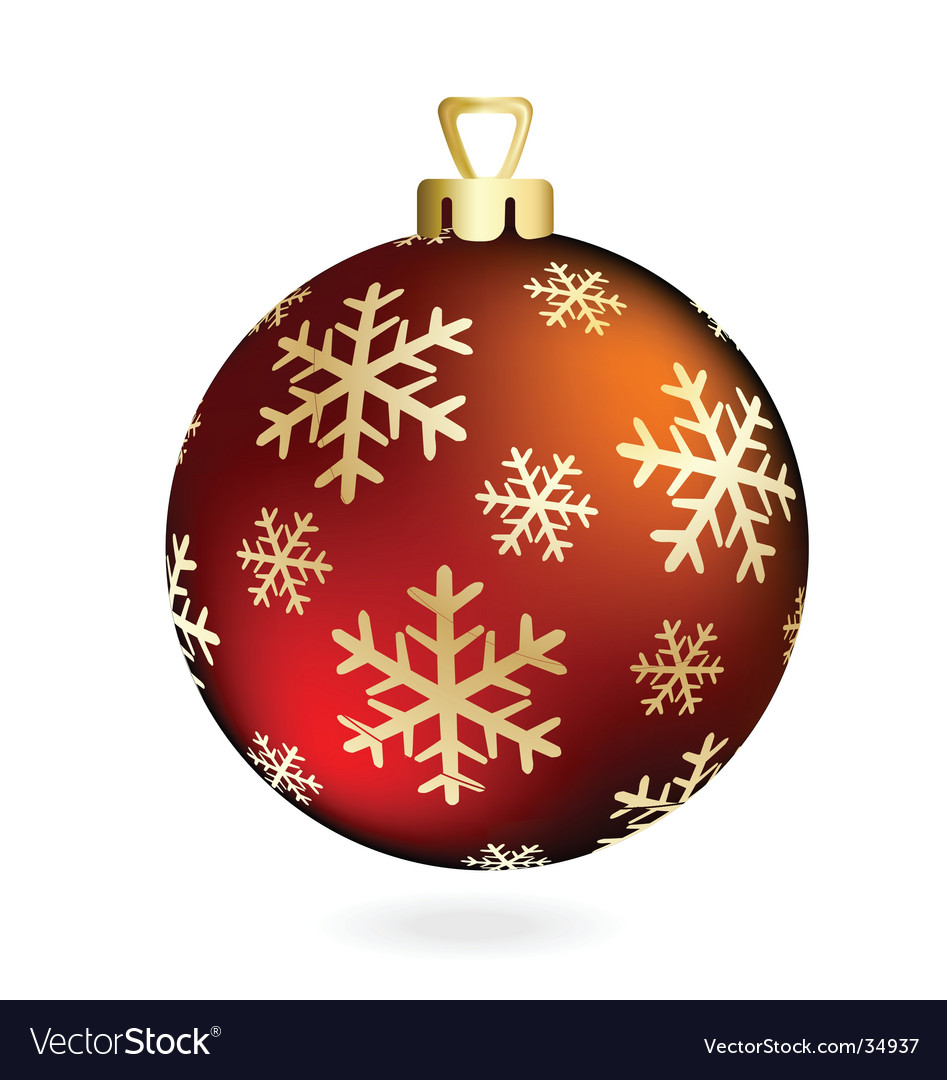 Red christmas ball on white vector | Price: 1 Credit (USD $1)