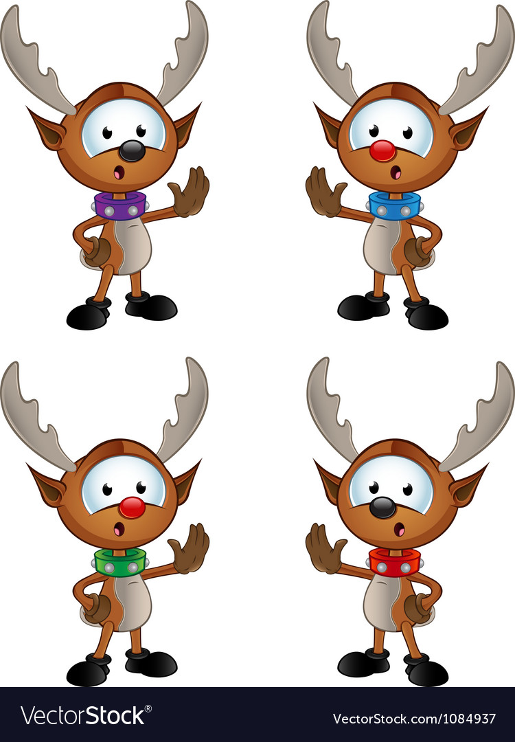 Reindeer character saying stop vector | Price: 3 Credit (USD $3)