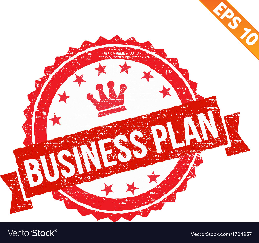 Rubber stamp business plan   eps10 vector