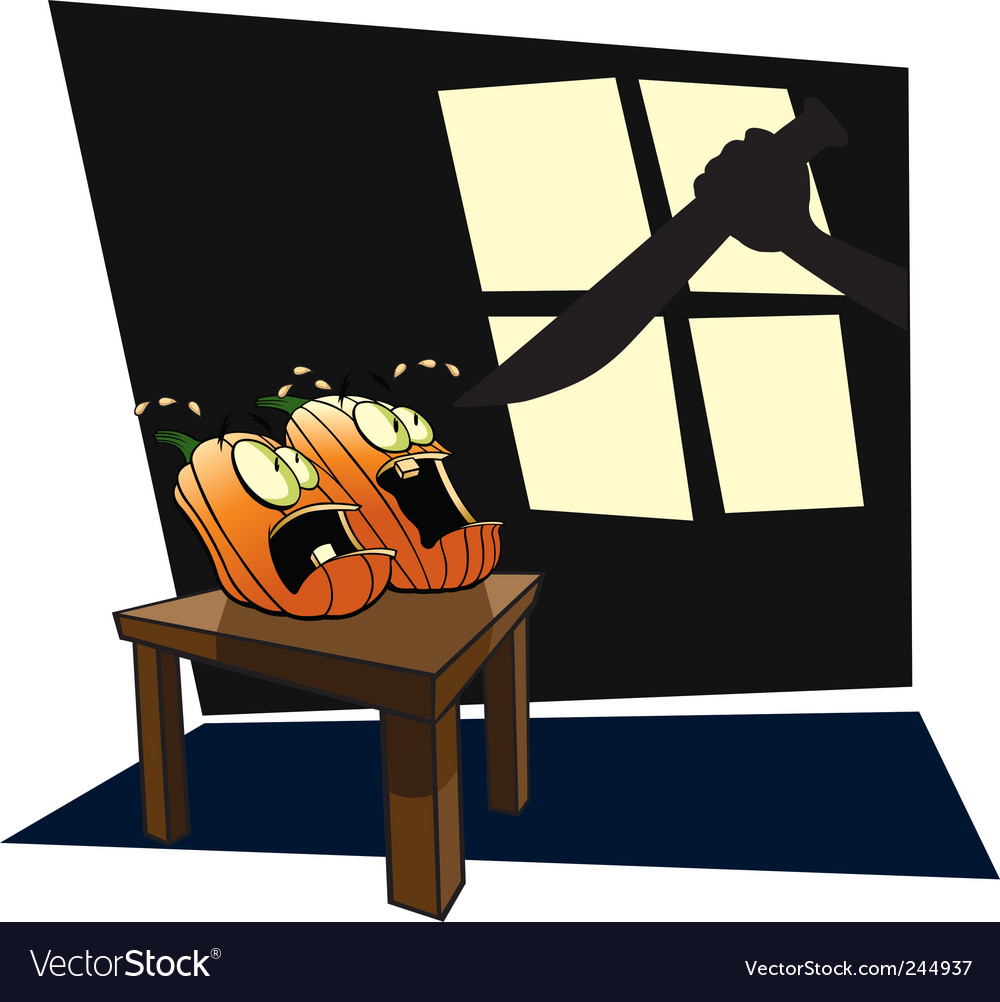 Scared pumpkins vector | Price: 1 Credit (USD $1)