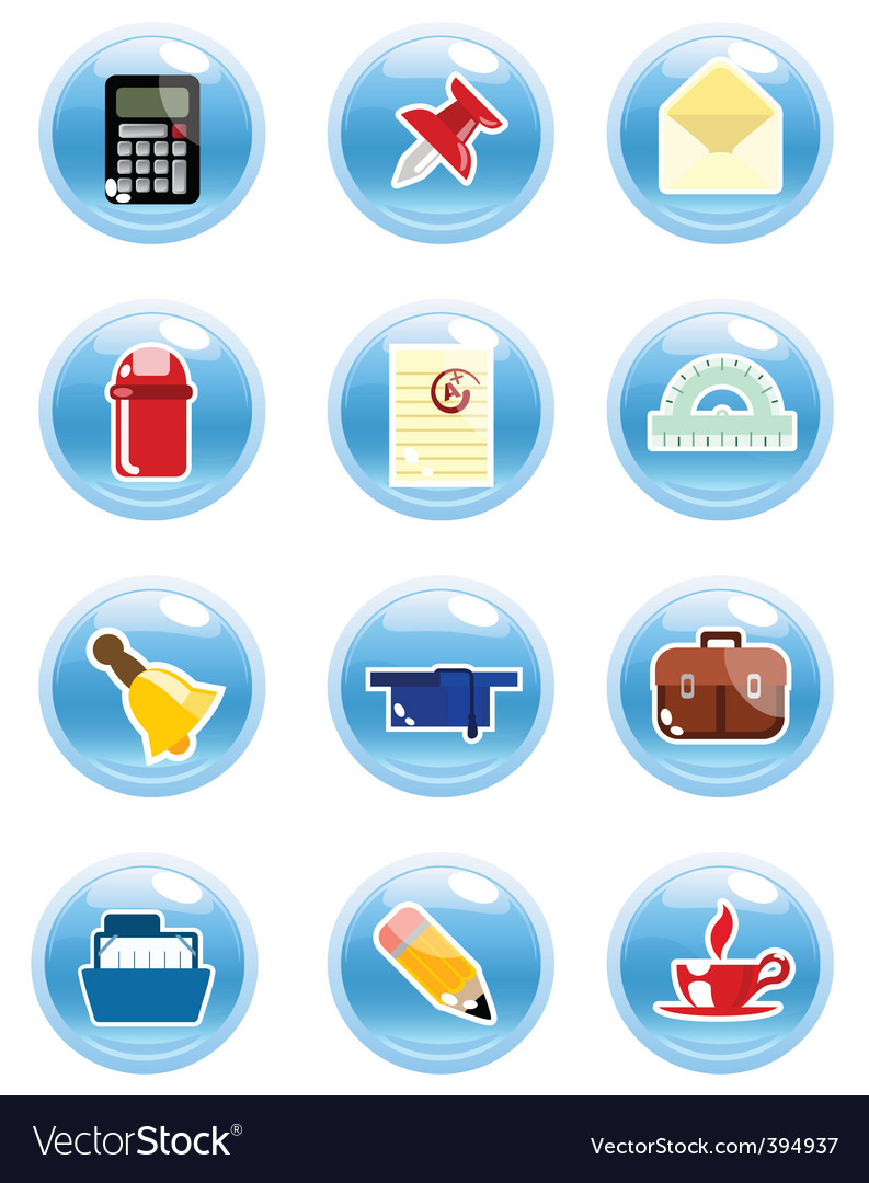 Stationary icon vector | Price: 1 Credit (USD $1)