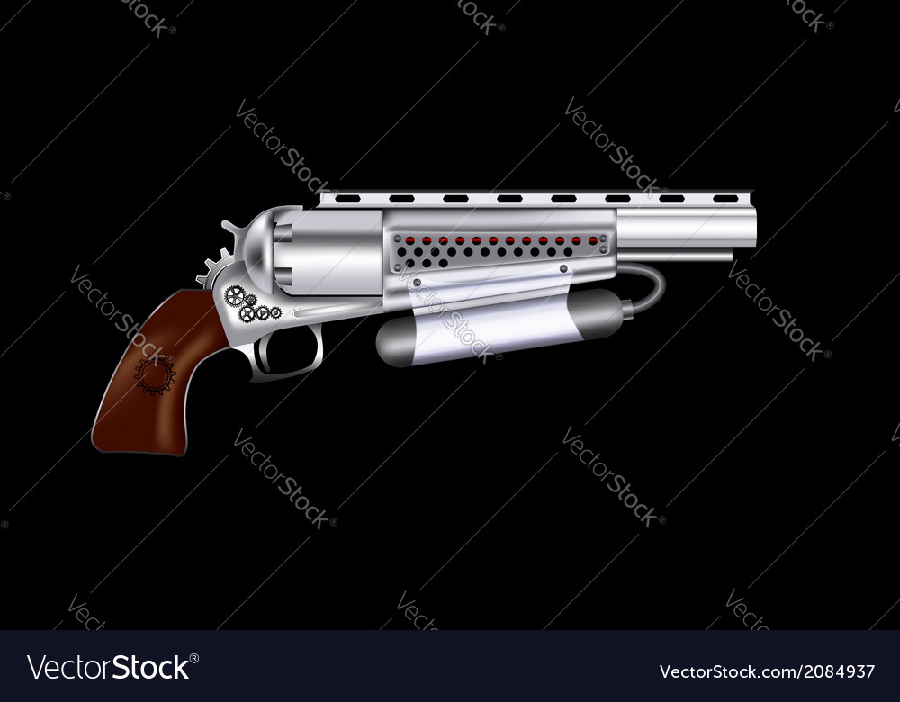 Steampunk revolver vector | Price: 1 Credit (USD $1)