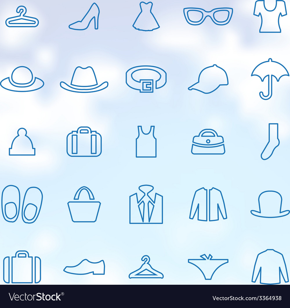 25 clothes icons set vector | Price: 1 Credit (USD $1)