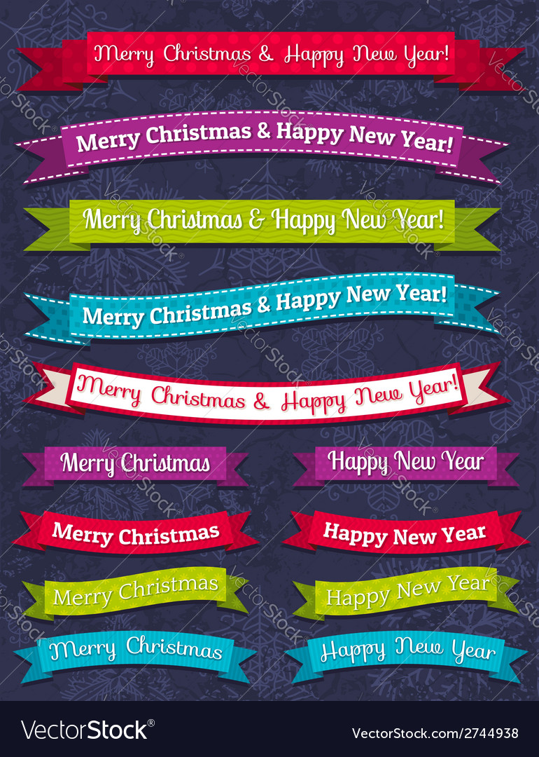 A set of christmas design vector | Price: 1 Credit (USD $1)