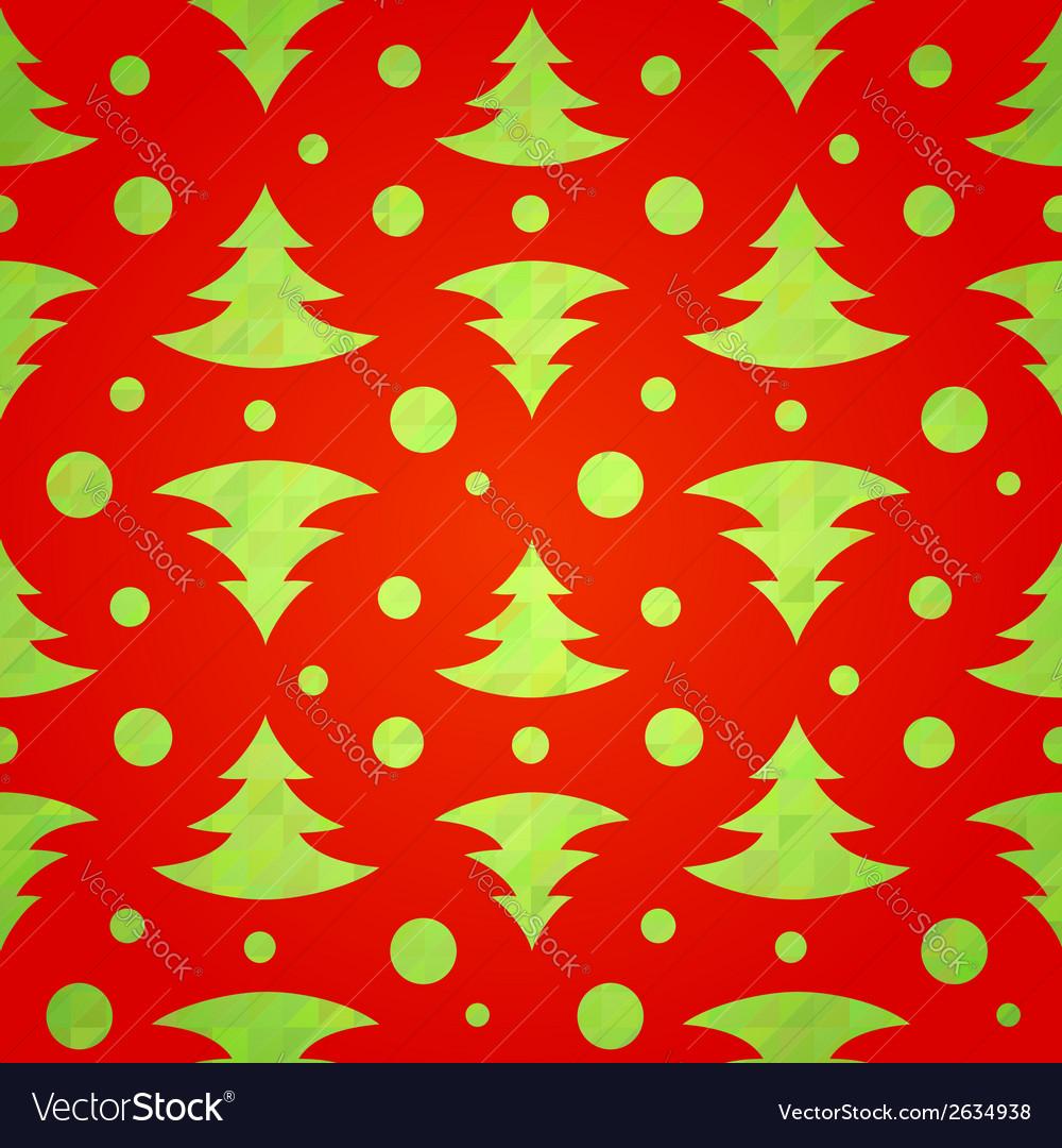 Christmas tree decorative seamless pattern vector | Price: 1 Credit (USD $1)
