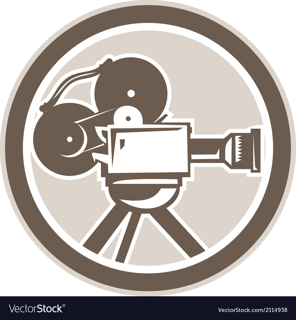 Film movie camera vintage circle retro vector | Price: 1 Credit (USD $1)