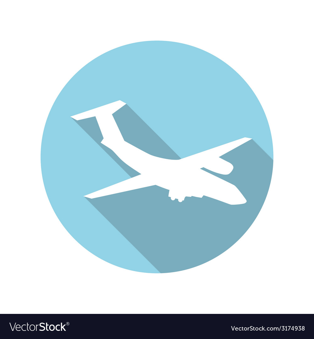 Flat design concept plane with long shadow vector | Price: 1 Credit (USD $1)