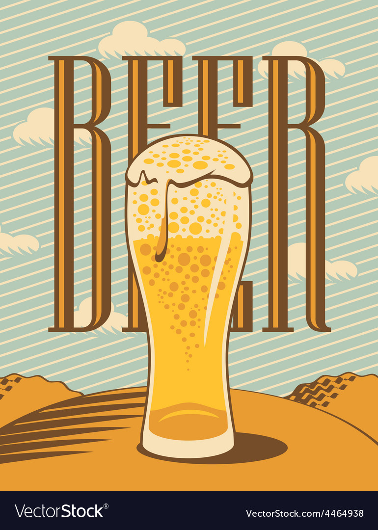 Glass of beer vector | Price: 3 Credit (USD $3)