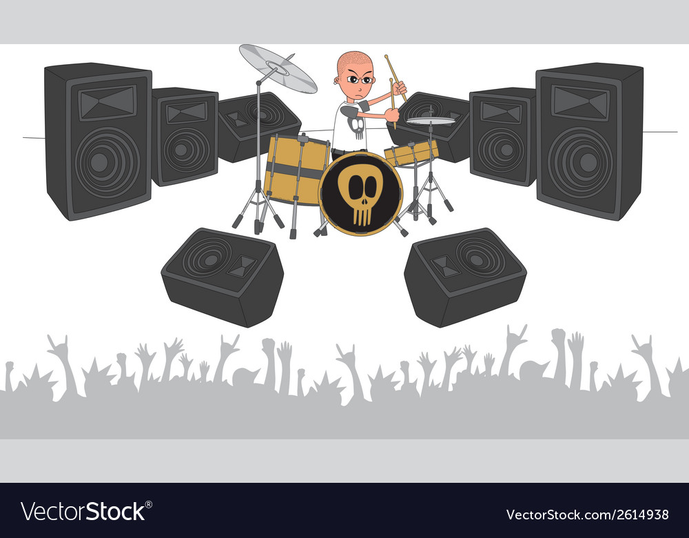 Music stage vector | Price: 1 Credit (USD $1)