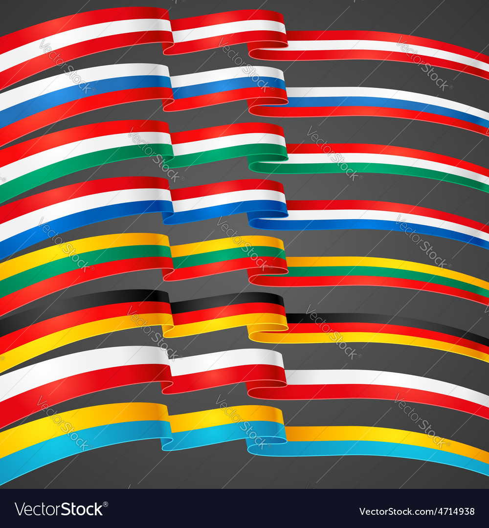 Ribbons flags vector | Price: 1 Credit (USD $1)