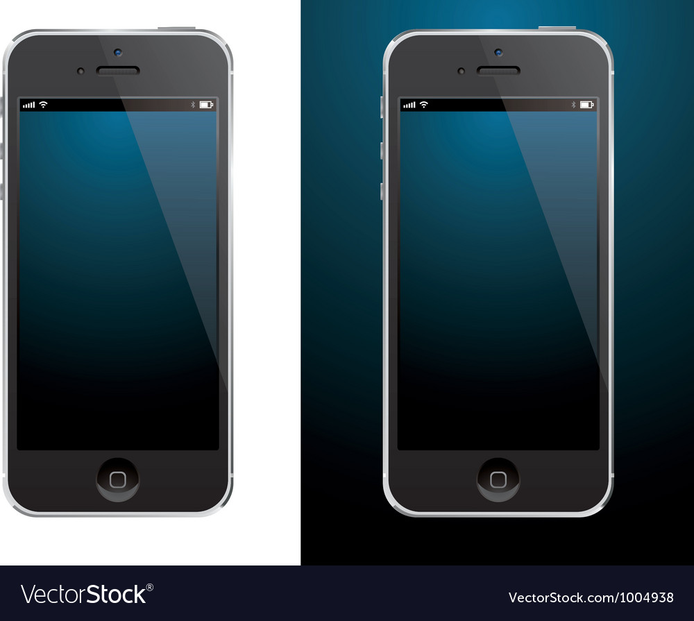 Smartphone black vector | Price: 1 Credit (USD $1)