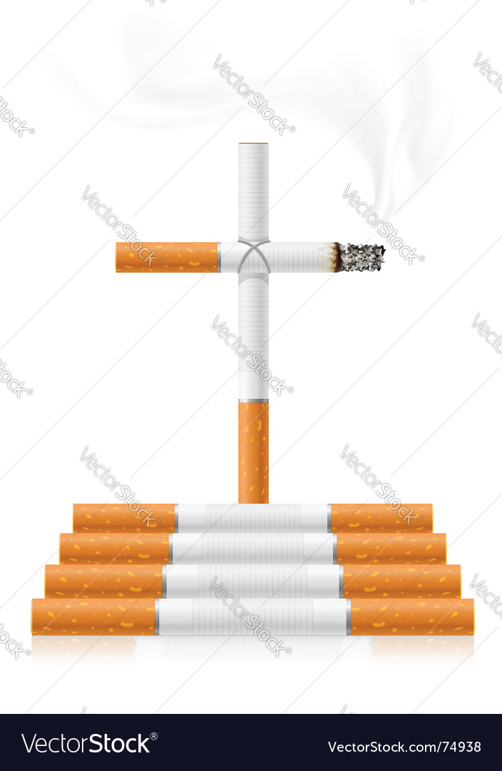Stop smoking concept vector | Price: 1 Credit (USD $1)