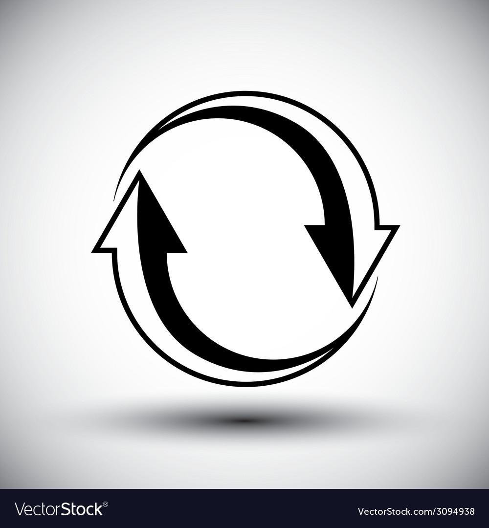 Two arrows loop conceptual icon special abstract vector | Price: 1 Credit (USD $1)